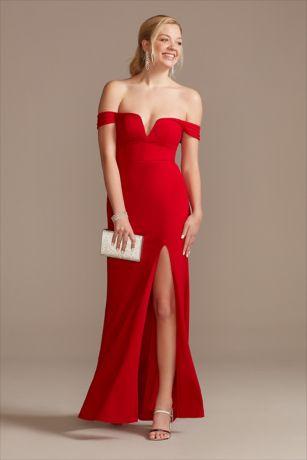 Long Sheath Off the Shoulder Dress - DB Studio