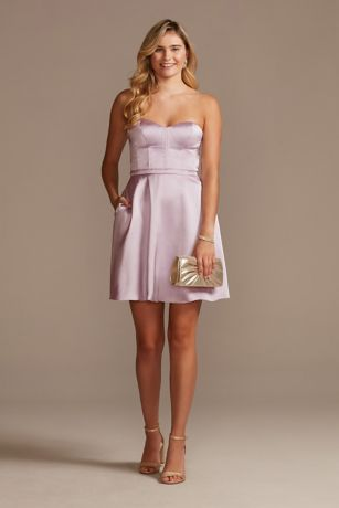 Short A-Line Strapless Dress - Jules and Cleo