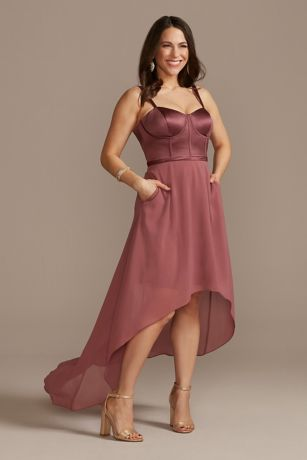 High Low Sheath Spaghetti Strap Dress - DB Studio