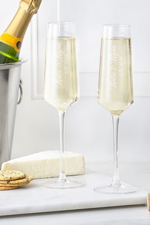 Personalized Champagne Estate Glasses Set of 2