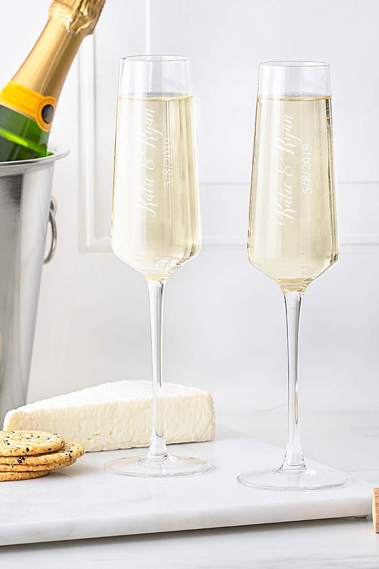 770310607f Personalized Champagne Estate Glasses Set of 2
