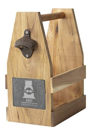 Wedding Acacia/Slate Beer Carrier