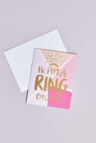 He Put A Ring On It Greeting Card