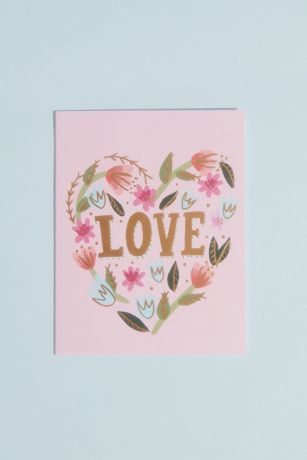 Floral Love Greeting Card with Envelope