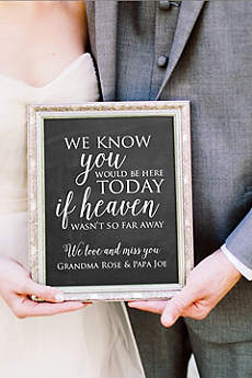 Personalized Wedding Memorial Sign