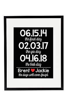 Personalized Days We'll Never Forget Wedding Sign
