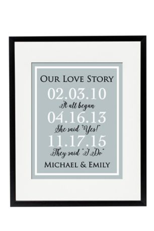 Personalized Our Love Story Special Dates Sign