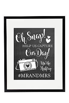 Personalized Oh Snap Wedding Hashtag Sign