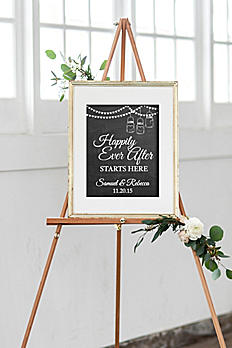 Personalized Happily Ever After Wedding Sign WED424
