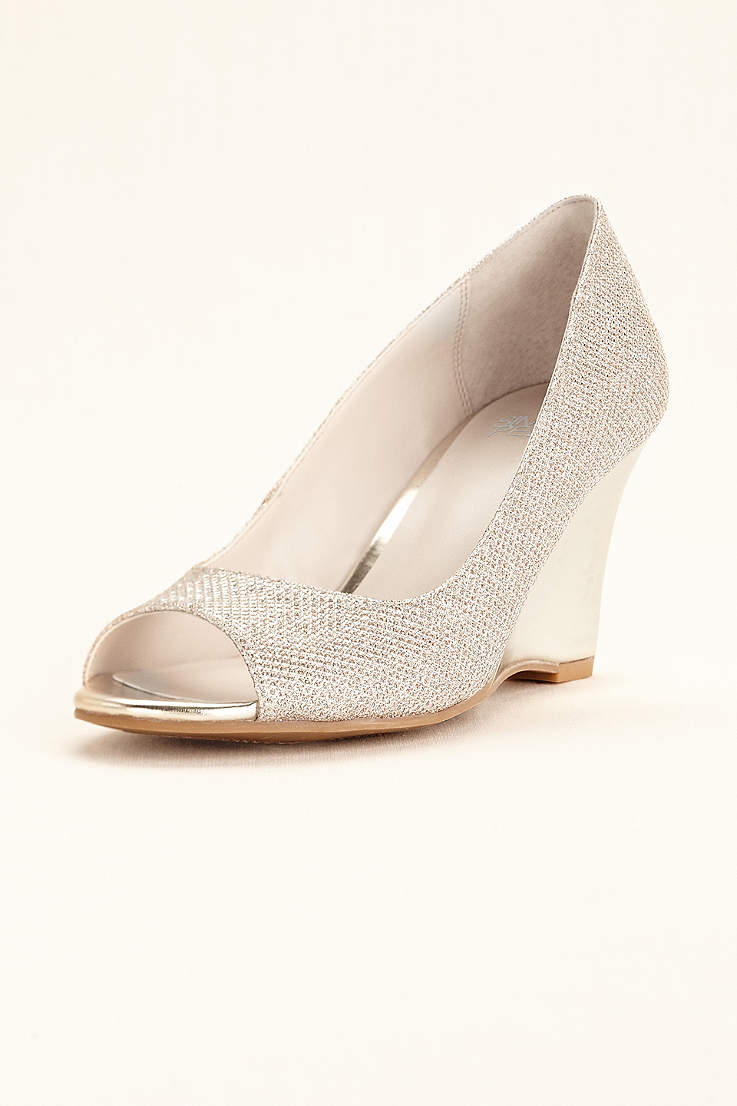 6e6acceead Women's Wedding Wedges: Silver, White, Black & More | David's Bridal