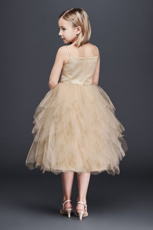Tiered Tea-Length Tulle Dress   David's Bridal