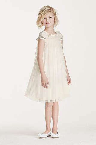 Flower girl dresses in various colors styles davids bridal short sheath cap sleeves communion dress mightylinksfo