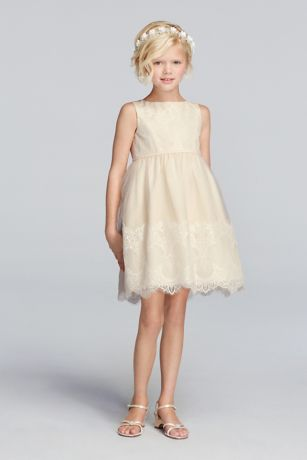 Tank tulle flower girl dress with lace applique davids bridal mightylinksfo