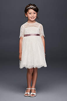 Short A-Line Long Sleeves Dress - David's Bridal