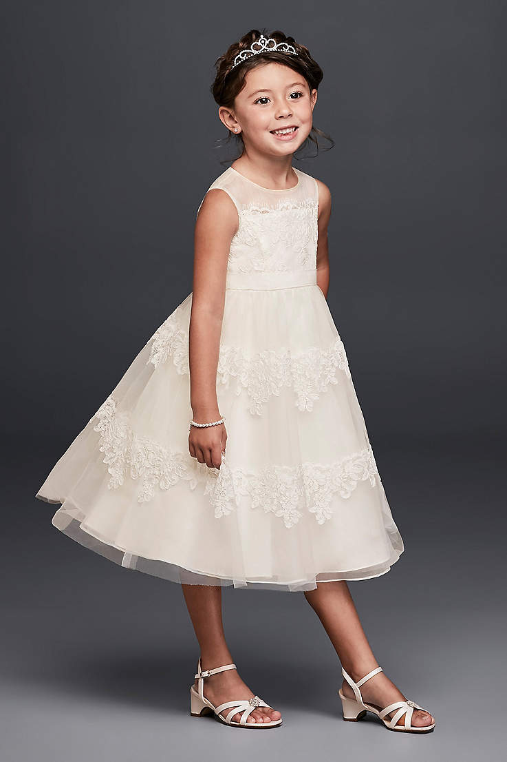 d19207108f993 Short Ballgown Tank Dress - David's Bridal. Short Ballgown Tank Dress -  David's Bridal · David's Bridal. Banded Lace Illusion Flower Girl Dress