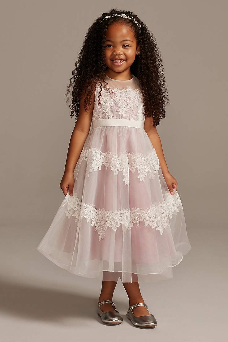 Ivory Silk and Lace Dress from Us Angels Style 217 Size 2T