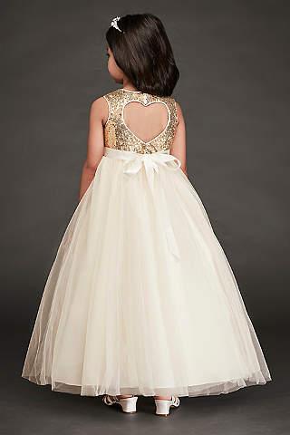 Flower girl dresses in various colors styles davids bridal long ballgown spaghetti strap dress davids bridal mightylinksfo