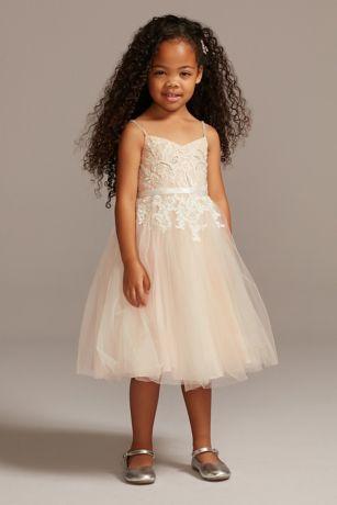 Tea Length Ballgown Short Sleeves Dress - David's Bridal