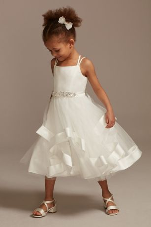 Tea Length Ballgown Spaghetti Strap Dress - David's Bridal