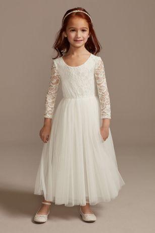 Long A-Line Long Sleeves Dress - David's Bridal