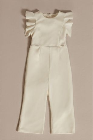 Long Jumpsuit Cap Sleeves Dress - DB Studio
