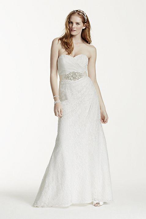 Sweetheart Strapless Lace Wedding Dress | David\'s Bridal