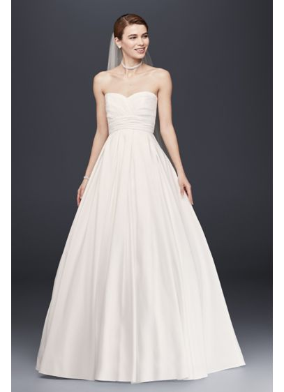 Long Ballgown Simple Wedding Dress David S Bridal Collection