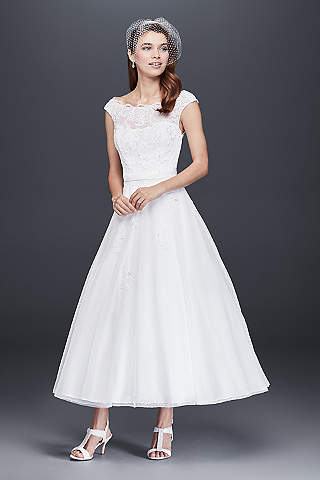 Tea Length & Knee Length Wedding Dresses | David\'s Bridal