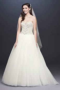 Jewel Tulle Wedding Dress with Crystal Detail