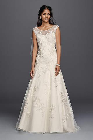 Long A Line Formal Wedding Dress