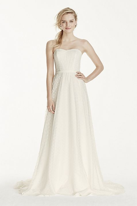 Strapless Polka Dot A-Line Dress   David\'s Bridal