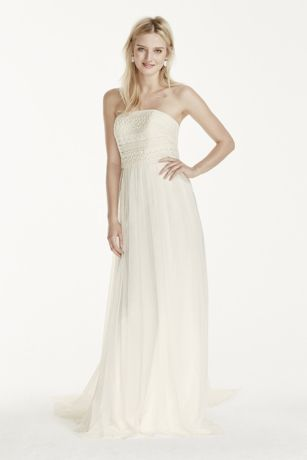 As-Is Tulle Sheath Dress with Lace Bodice