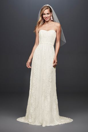 Long Sheath Wedding Dress - Galina
