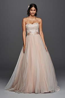 Long Ballgown Romantic Wedding Dress - Jewel