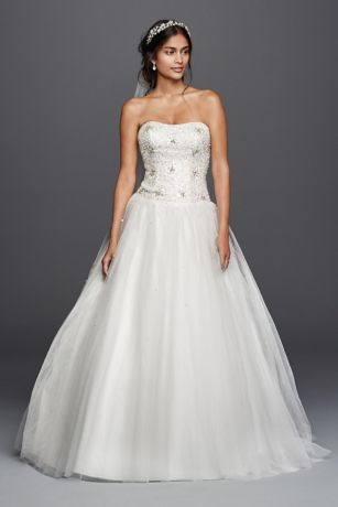 As-Is Jewel Beaded Tulle Ball Gown Wedding Dress