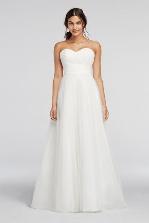 As-Is Strapless Sweetheart Tulle Wedding Dress