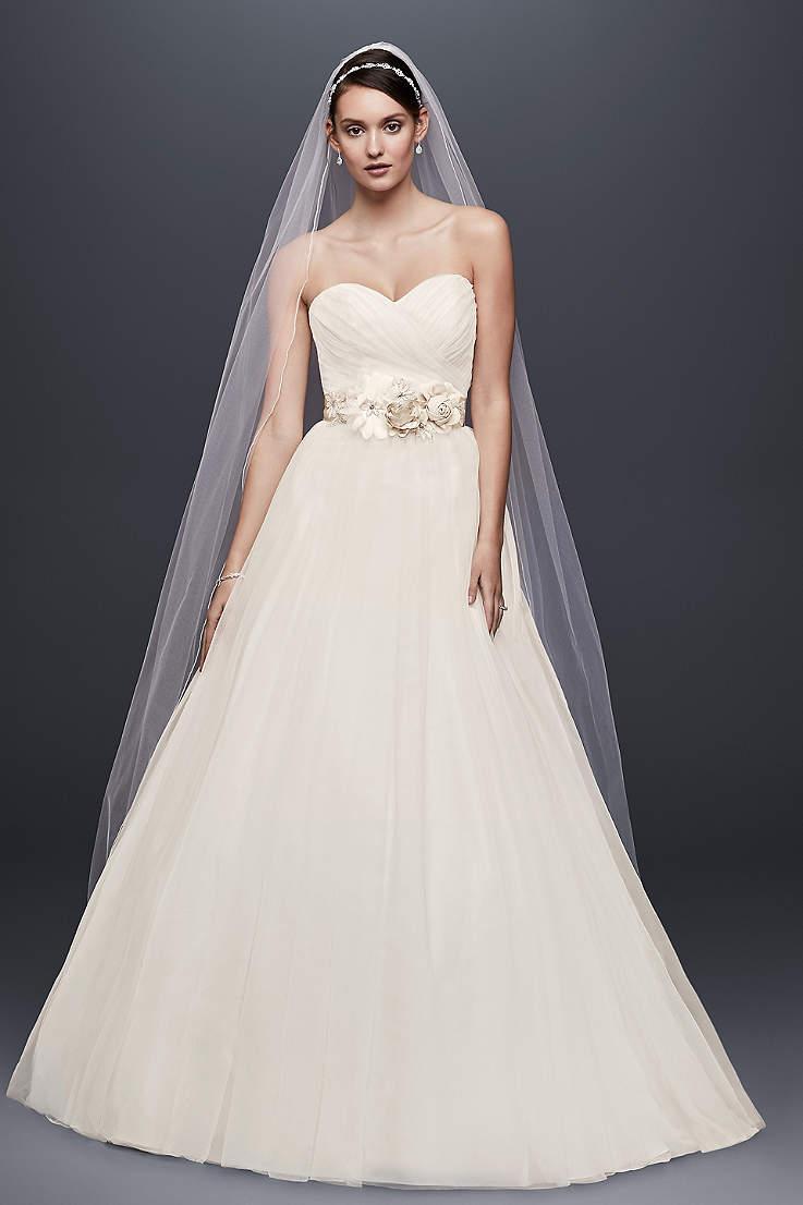 Long Ballgown Wedding Dress - David s Bridal Collection 7774f84831b9