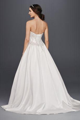 satin corset ball gown wedding dress  david's bridal