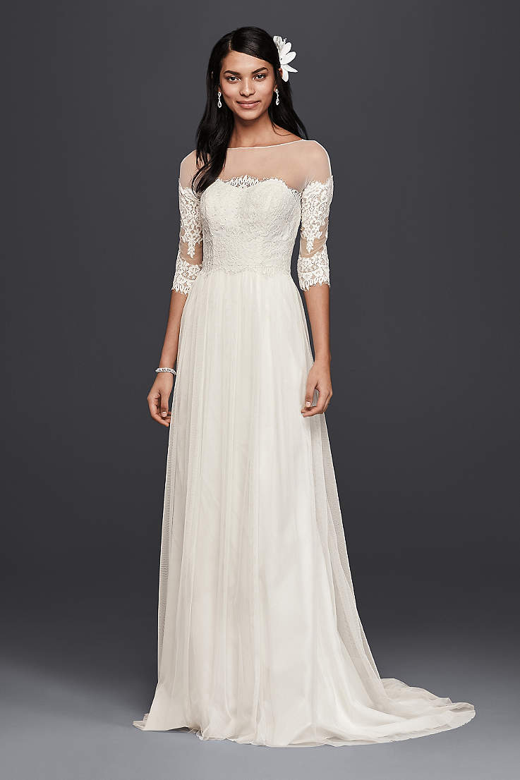 Lace wedding dresses for mature brides
