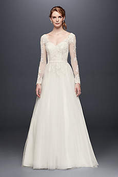 As-Is Long Sleeve Wedding Dress With Low Back