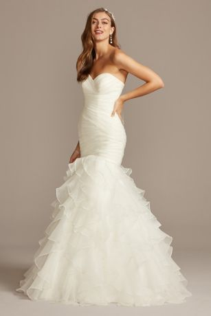 Soft & Flowy;Structured David's Bridal Collection Long Bridesmaid Dress