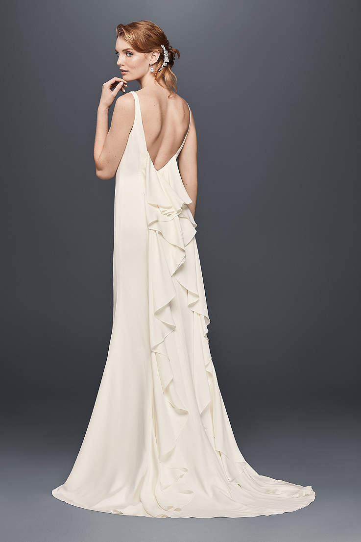75864d6f60 Long Sheath Wedding Dress - David s Bridal Collection