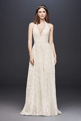 Long Ballgown Beach Wedding Dress