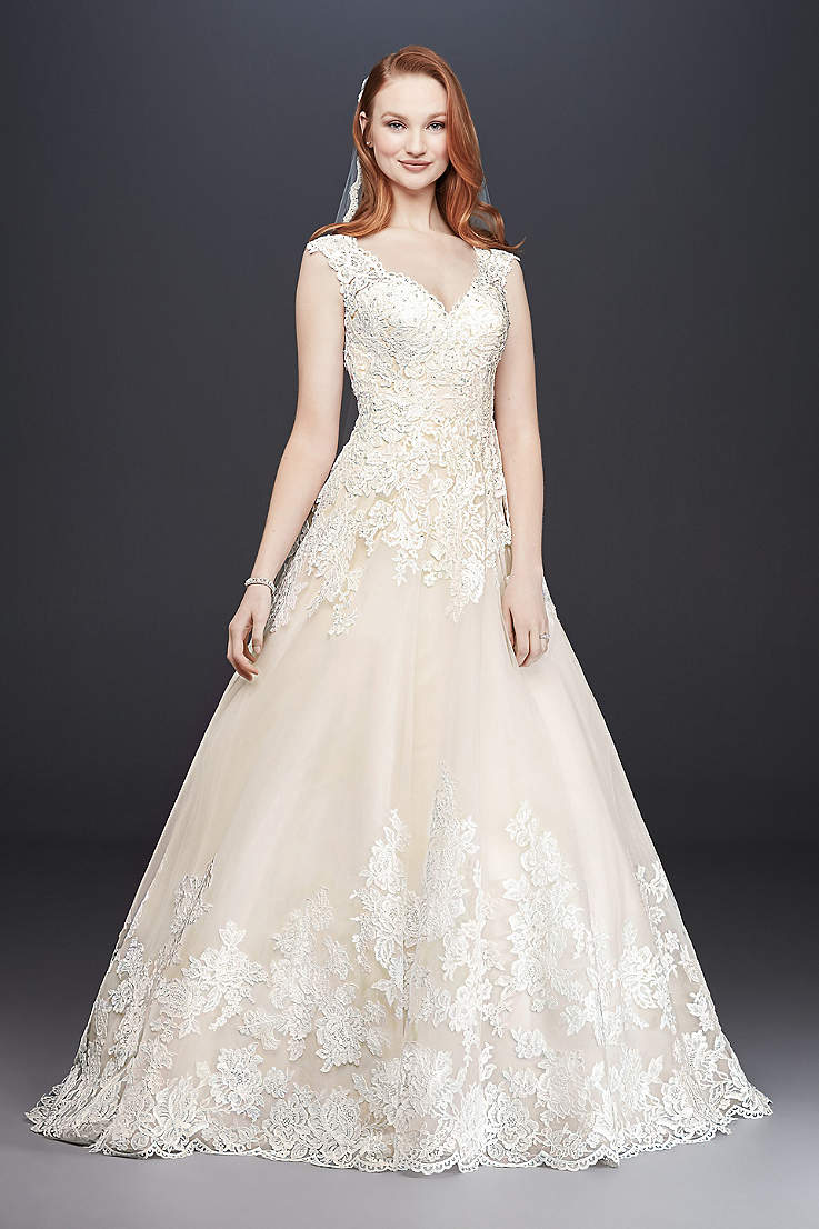 2636b9a827e Long Ballgown Wedding Dress - David s Bridal Collection