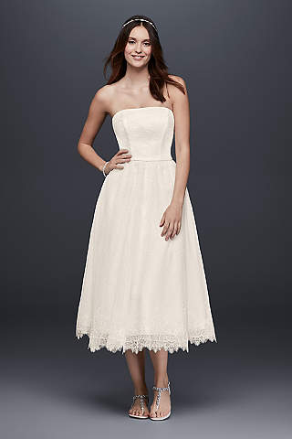 Short A Line Beach Wedding Dress