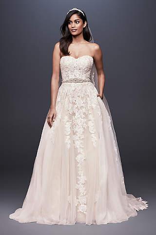 Long Ballgown Wedding Dress David S Bridal Collection