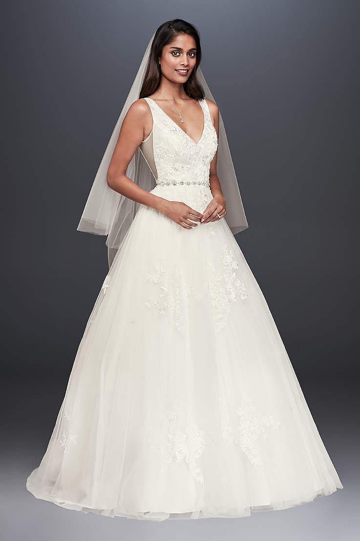 c1b1a6f60080 Long Ballgown Wedding Dress - David's Bridal Collection