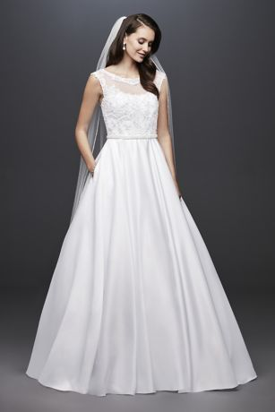Long Ballgown Cap Sleeves Dress - David's Bridal Collection
