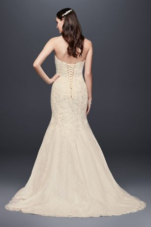 Corset Back Beaded Lace Mermaid Wedding Dress David S Bridal
