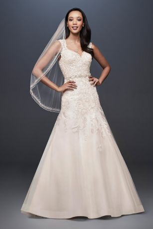 As-Is Tulle Cap Sleeve Mermaid Wedding Dress